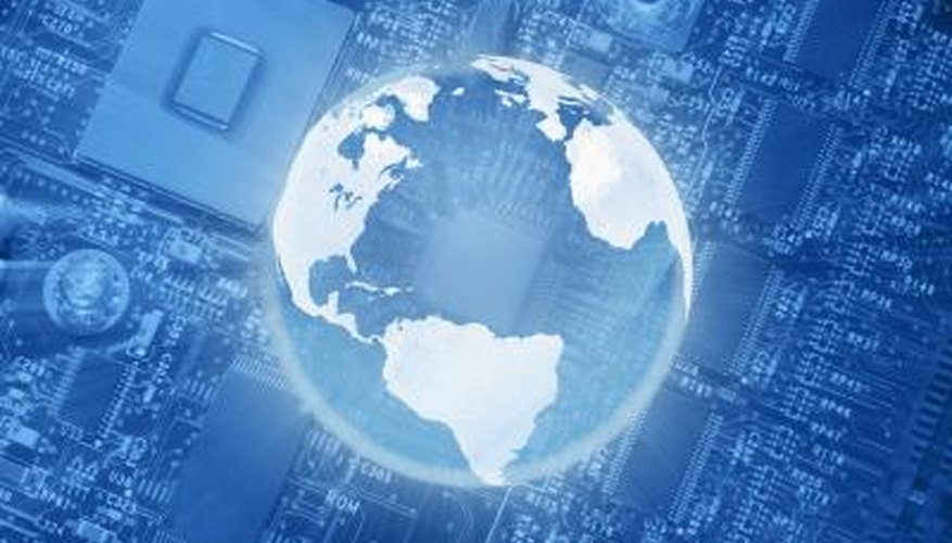 Globalisation facilitates electronic business.
