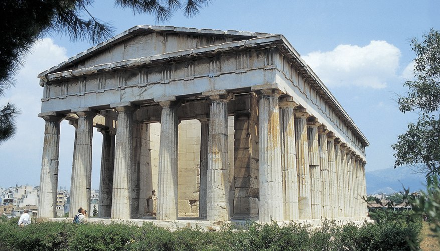 An ancient Greek temple.