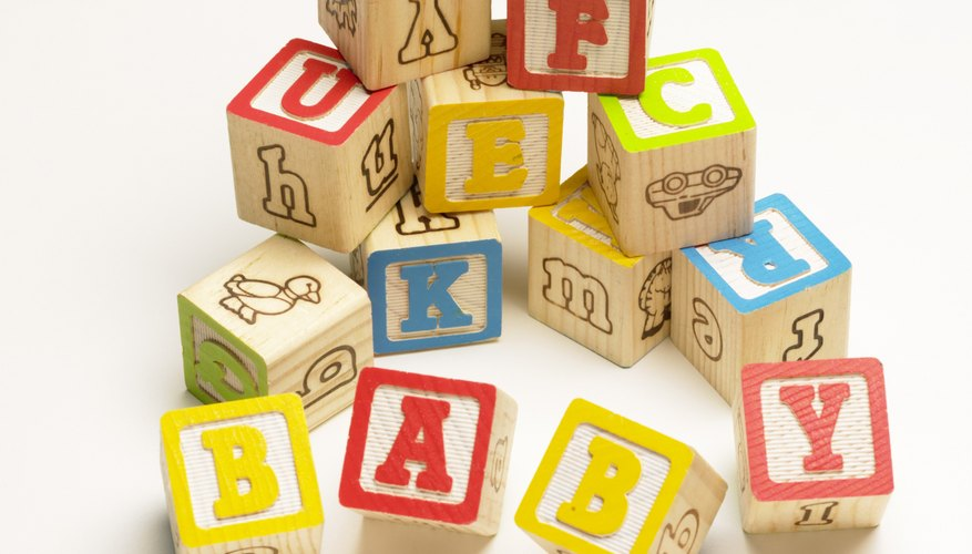 Wooden blocks are a classic favorite baby gift.