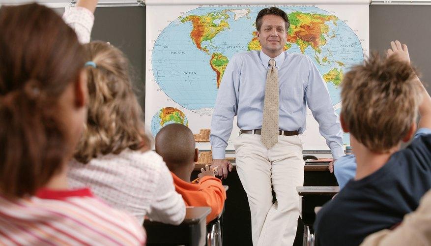 Teacher standing in front of classroom