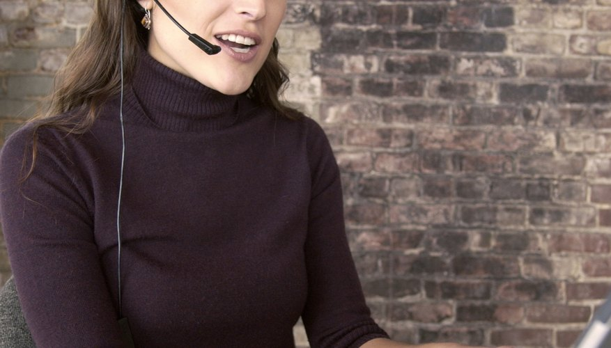 Use a headset with a microphone to reduce background noise on Skype calls.