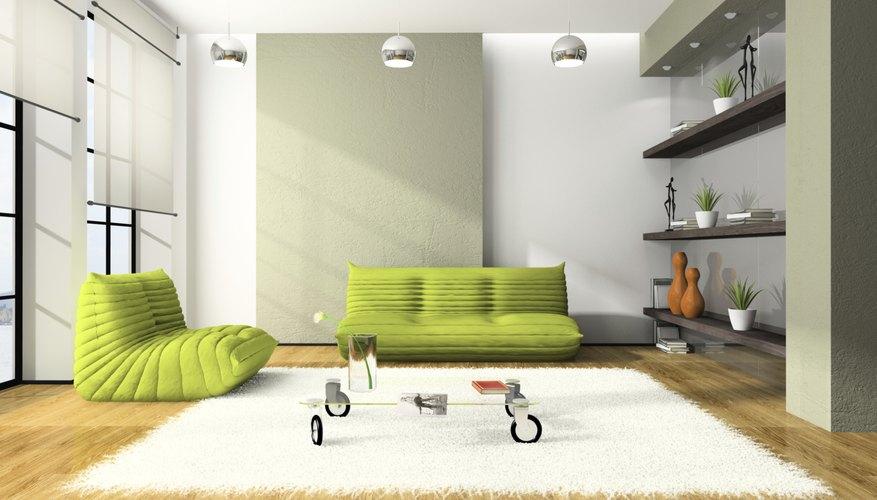 Roller blinds offer a good window treatment for modern interiors.