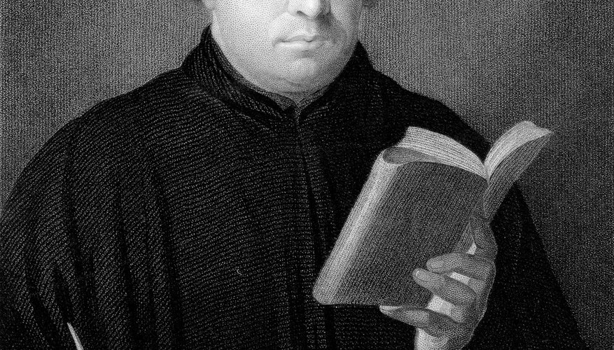 Martin Luther started the Reformation with his