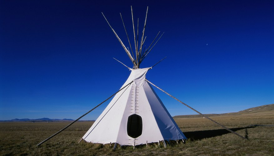 A teepee stands in Ulm Pishkun State Park, Montana.