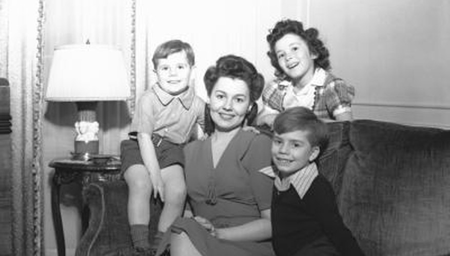 British children adopted American styles in the 1950s.