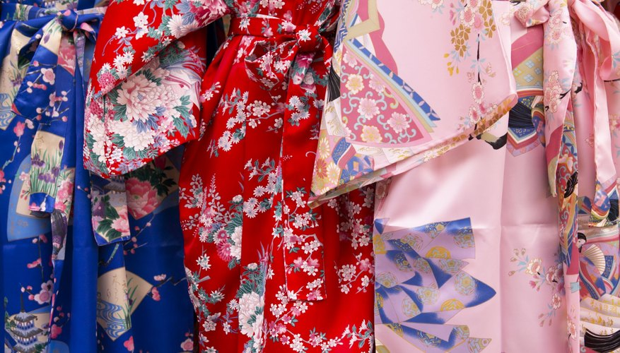Omamori charms, which resemble kimono fabric, are used to decorate backpacks, keychains and luggage.