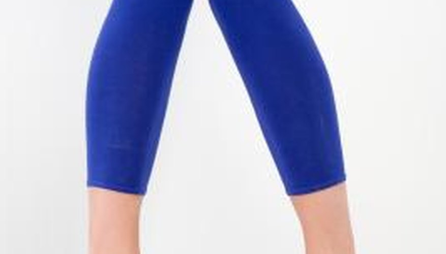 Show of fnew curves with a tighter pair of leggings.