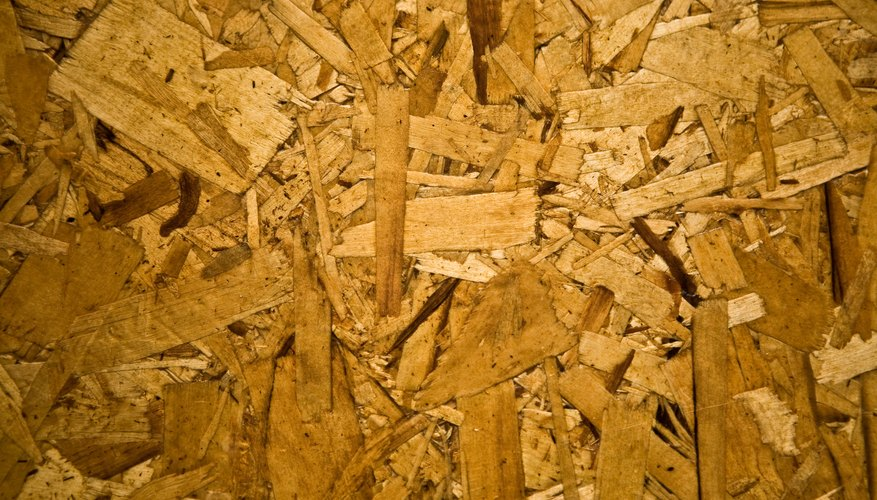 Chipboard is compressed into sheets of different thickness.