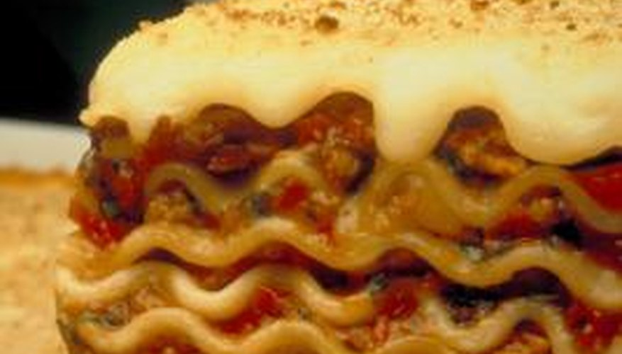 Lasagne can easily be made in a roasting pan.
