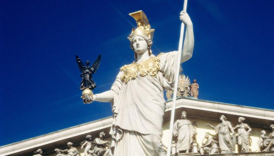 Athena escaped the confines of Zeus's head.