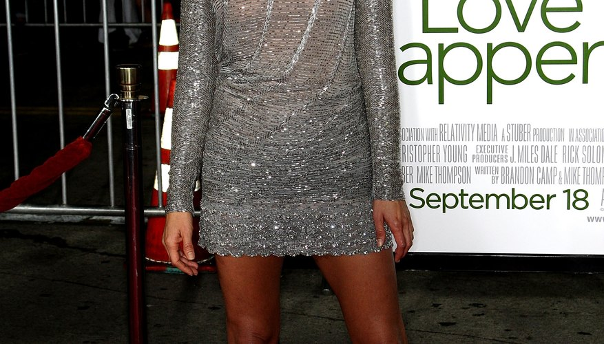 Jennifer Aniston sports a silver dress to the