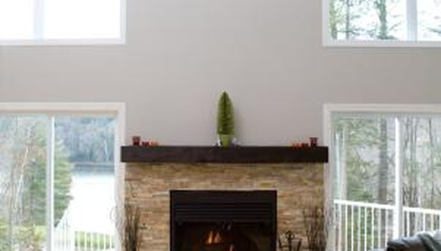 A surround can be made to cover an existing fireplace.