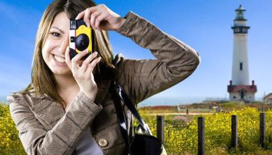 Disposable cameras let you take pictures without the hassle of loading film and batteries.