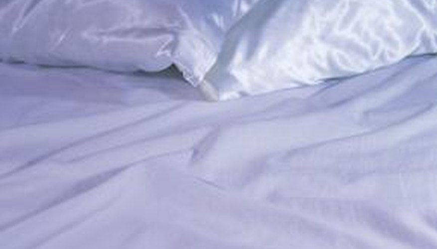 Crisp, white pillowcases are inviting.