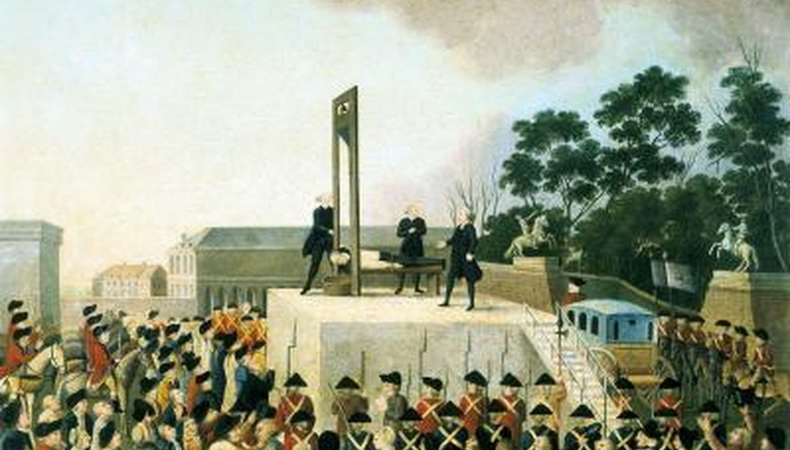Executions were public events in which the whole town would gather to see the criminal's head disembodied.
