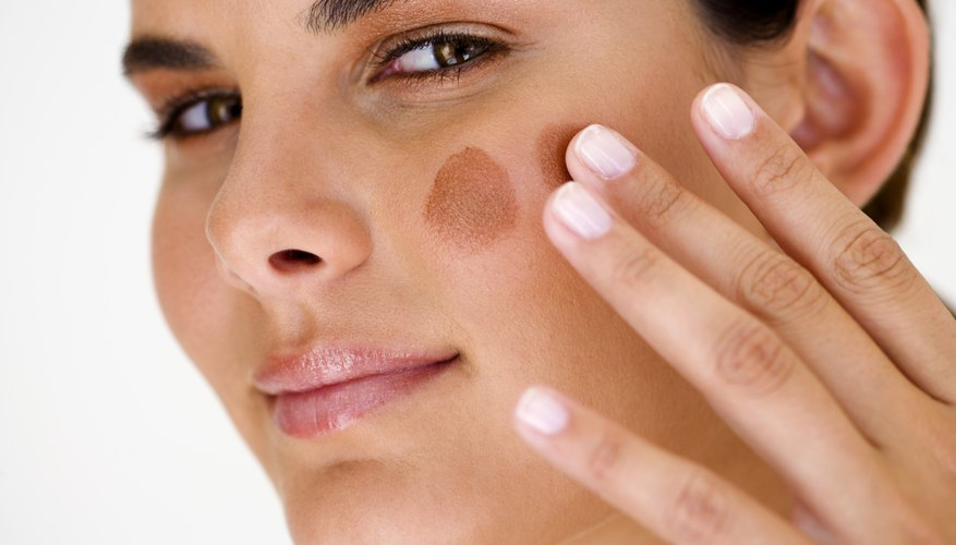 Fix too-dark foundation with a lot of blending and a little mixing.