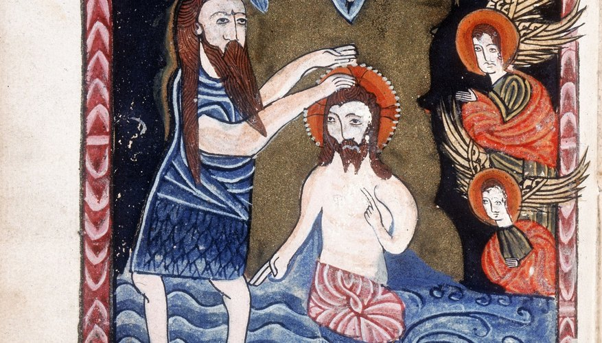 St. John the Baptist baptized Jesus in the Jordan River.