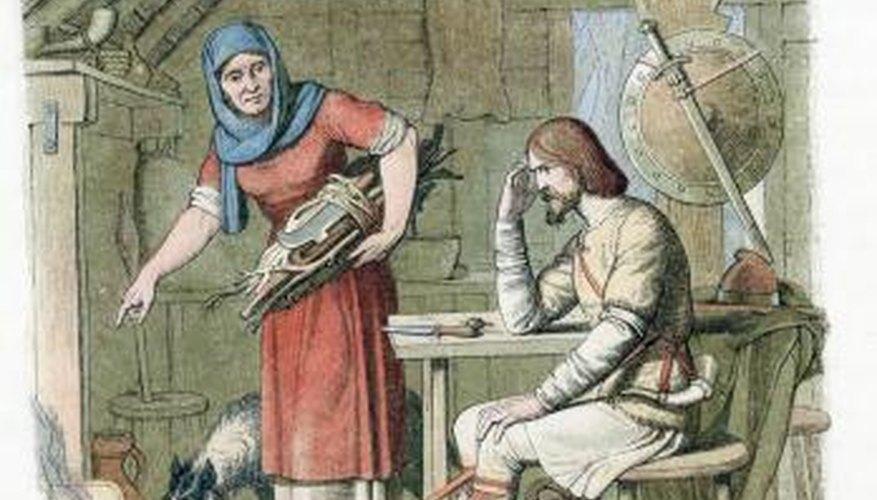 Historians believe that Anglo-Saxon children dressed much like their parents
