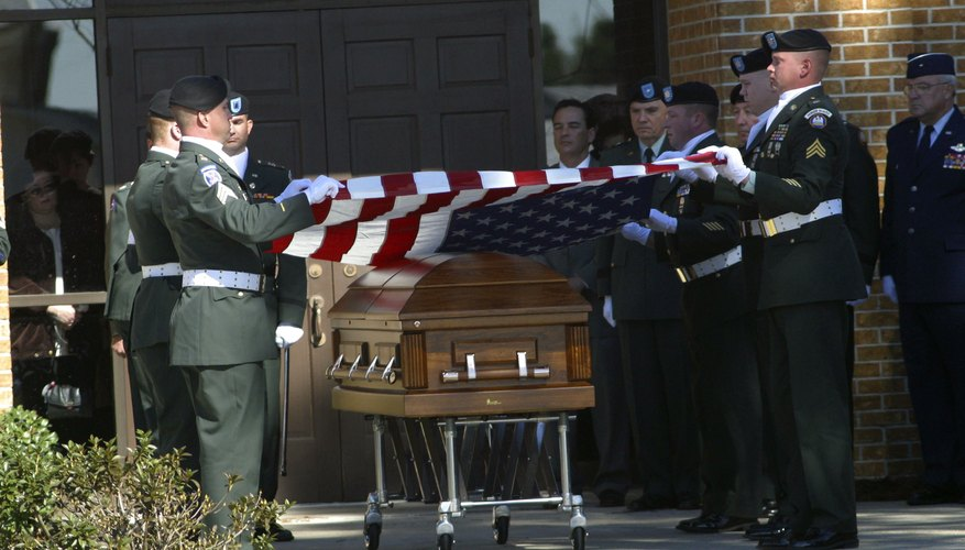 A spiritual meaning is often given to funeral flag-folding ceremonies for veterans.
