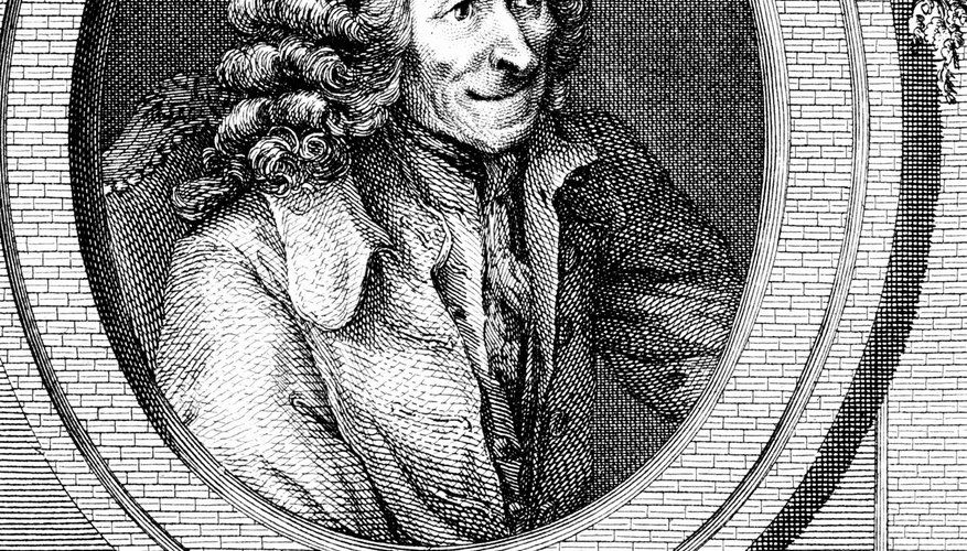 French writer Voltaire was exiled for publishing satiric criticisms of the Catholic church and the monarchy.