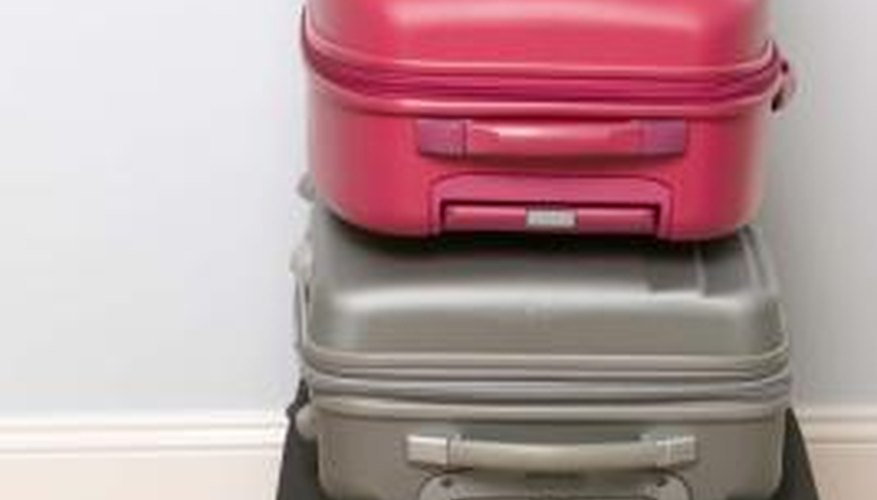Scratched hard-shell luggage can be repaired easily.