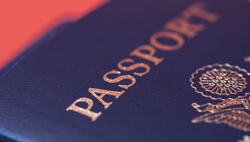 Use paper to make a pretend passport for preschool children.