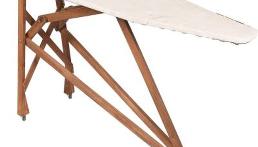 Ironing board covers are washable, and you don't need any special cleaning solutions.