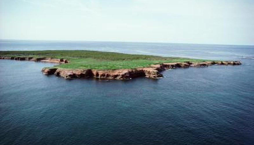 Islands are bodies of land that are completely surrounded by water.
