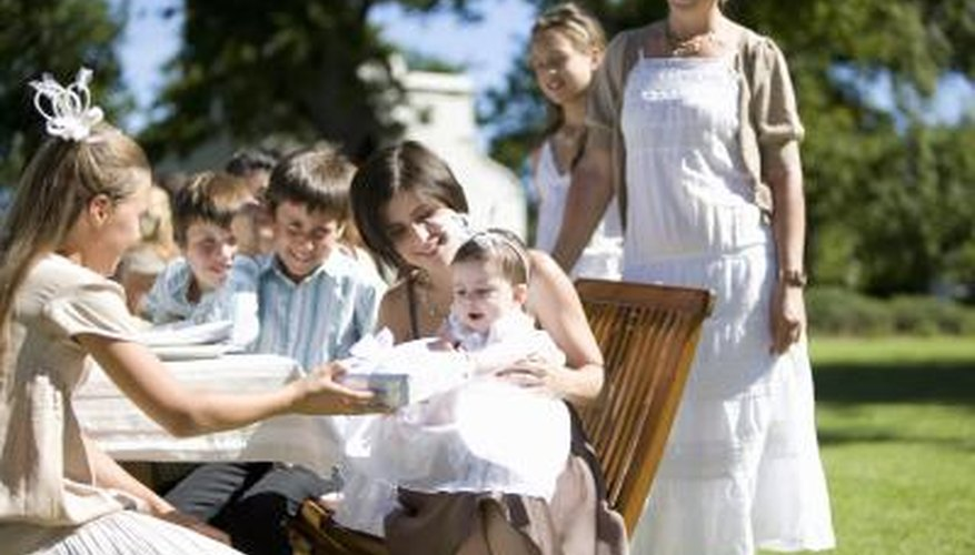 Toasts to new babies at their christening follow a traditional pattern.