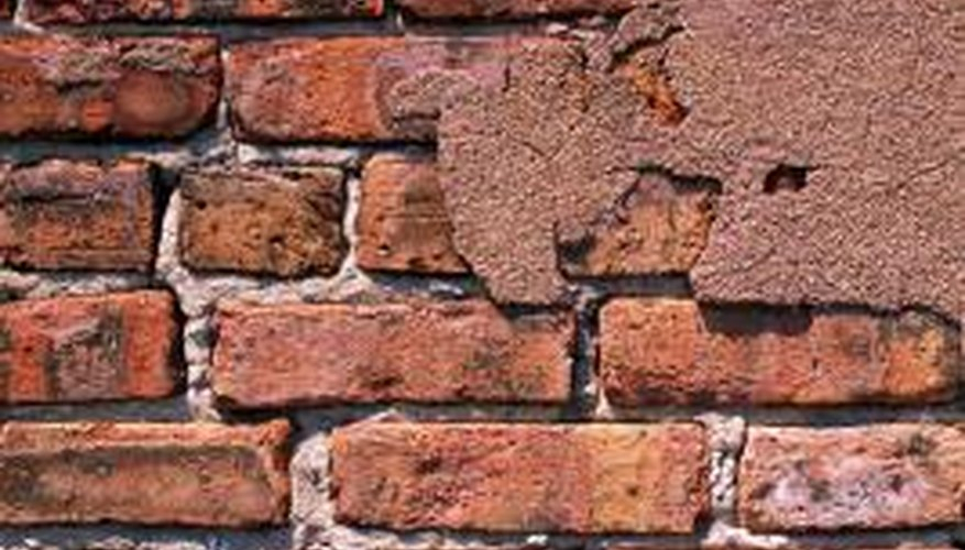 Tumbled bricks have been aged artificially.