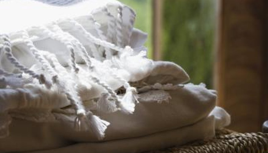 True linen gets its natural lustre from the wax in the flax fibres from which it is made.