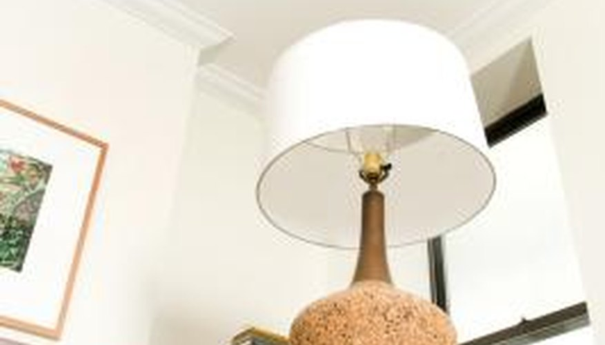A plain white lampshade is the easiest to dye or paint.