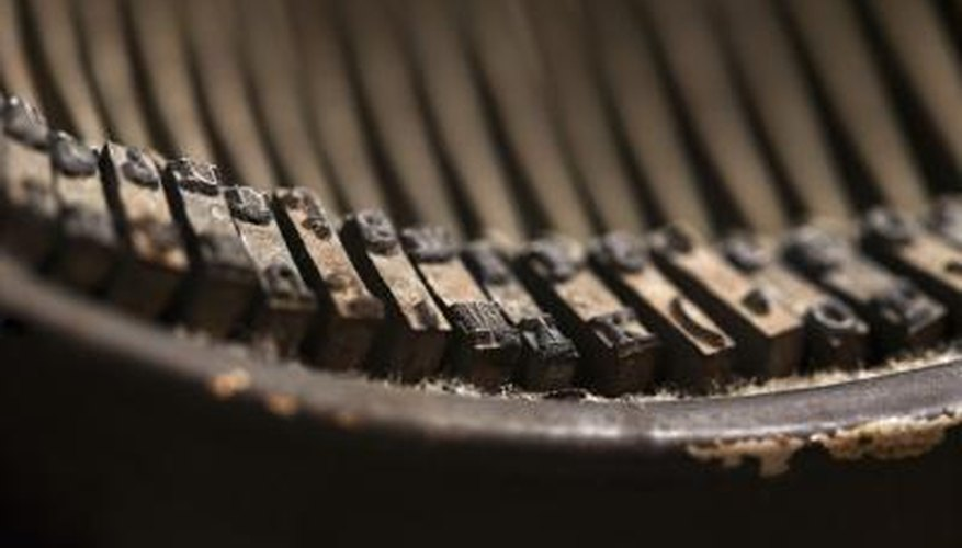 Typewriter rust can cause keys to stick and other functioning problems.