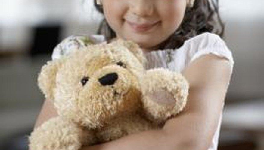 Homemade teddy bears can make children smile.