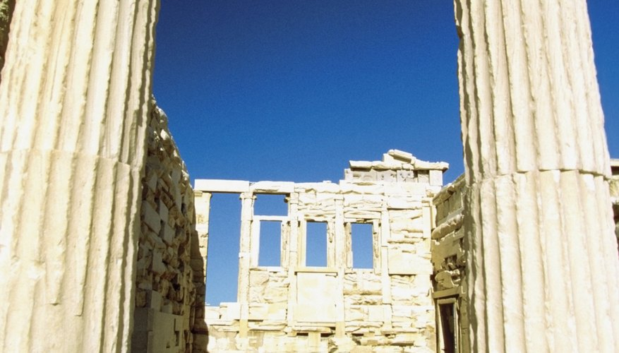 The ruins of Acropolis are some examples of the Ionic order in Greek architecture.