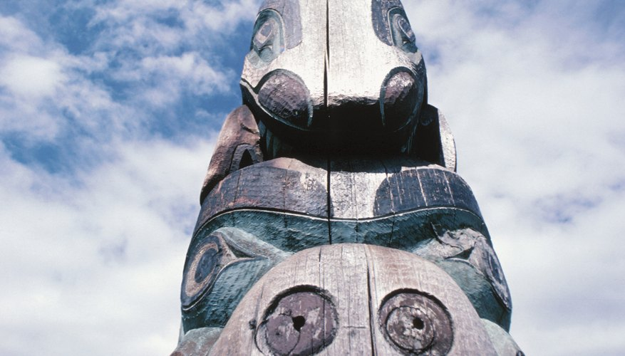 Totem poles are very common among Northwest natives.