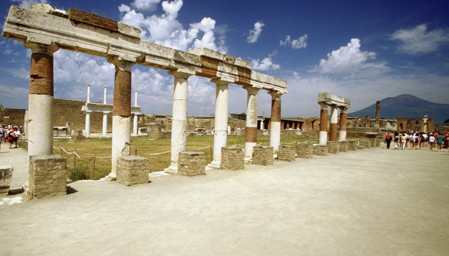 One set of Pompeii's baths was located close to the city's Forum.