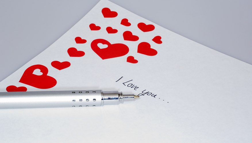 Write your letter on fancy paper for a romantic touch.