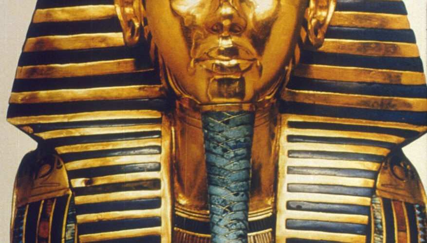 The funerary mask of King Tut is one of the most familiar artifacts from the 18th Dynasty.
