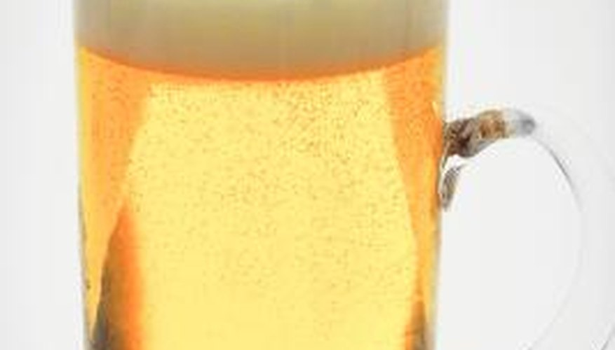Fining results in a very clear beer.