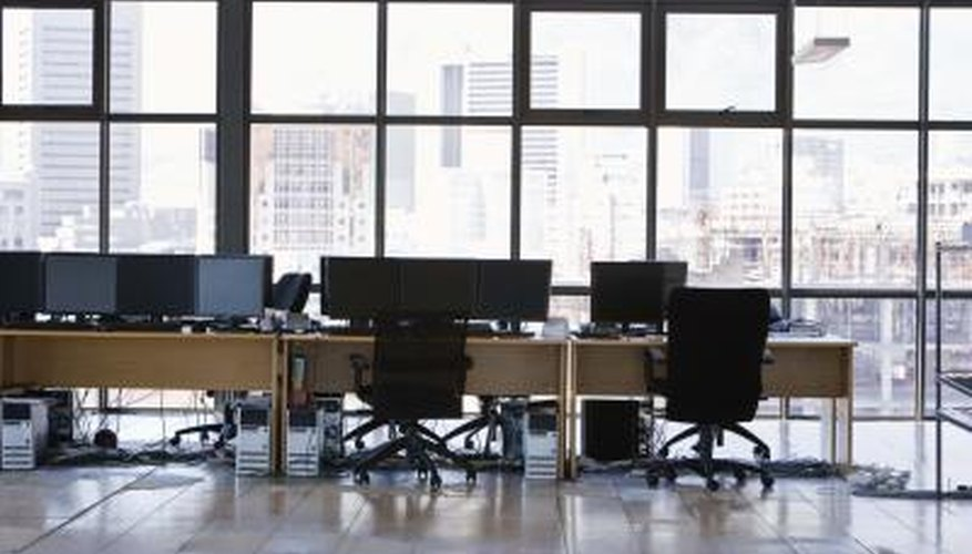 CO2 levels will normally be higher in an office compared to outside.