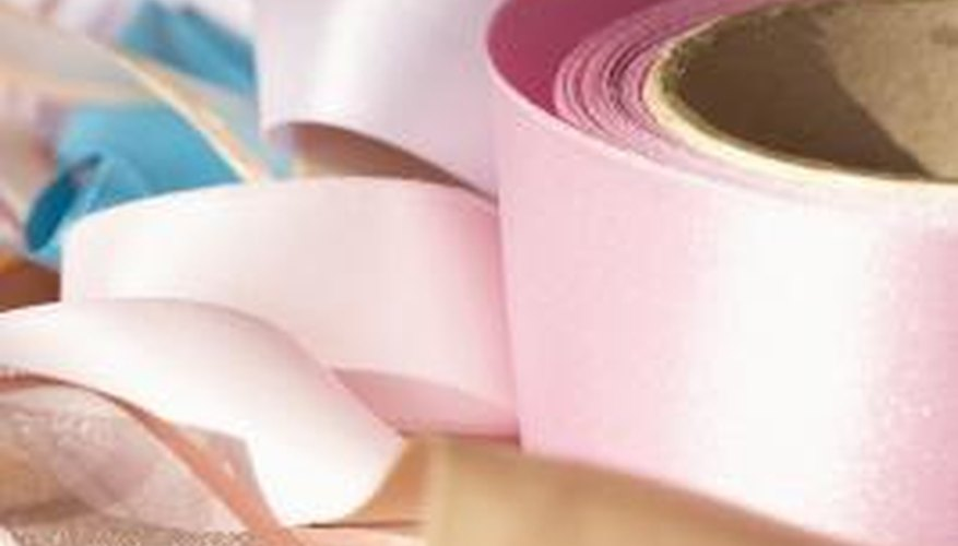 Use double-faced satin ribbon for projects where both sides of the ribbon will show.