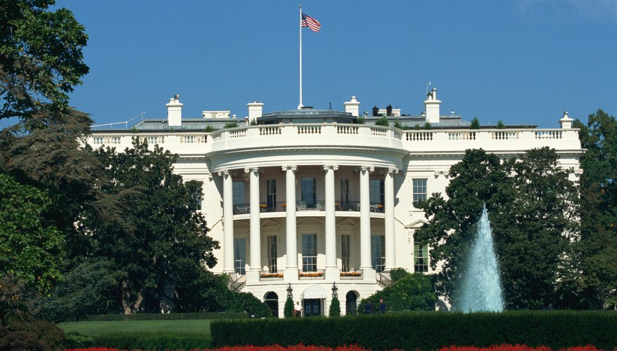 The president, the nation's chief executive, lives and works in the White House.