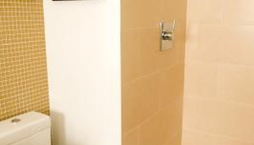 Shower grout wears out over time.