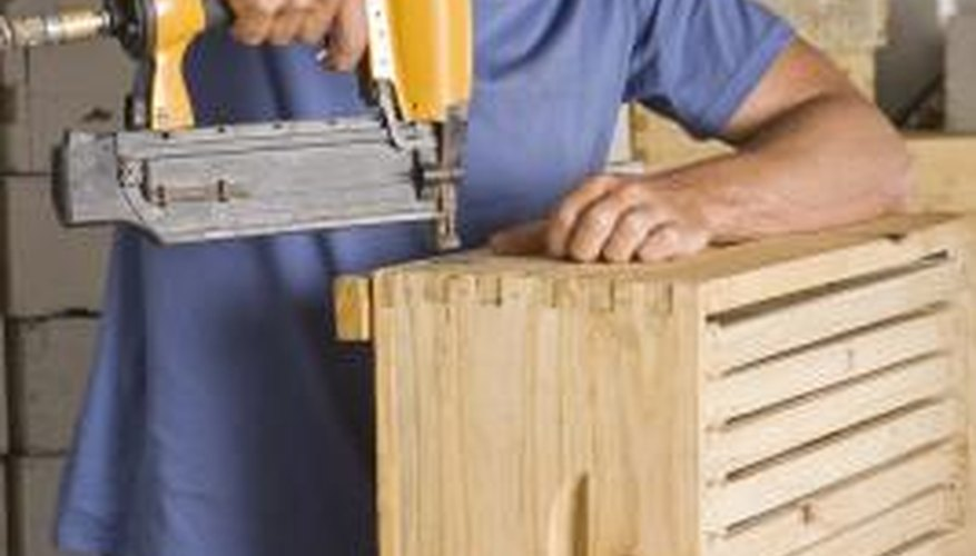 Use care when operating pneumatic tools.
