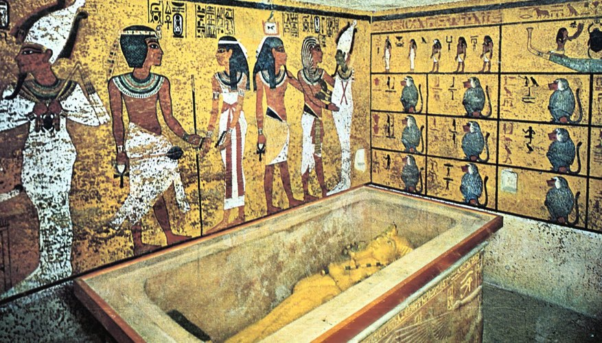 In ancient Egypt, tombs were decorated for the benefit of the deceased.