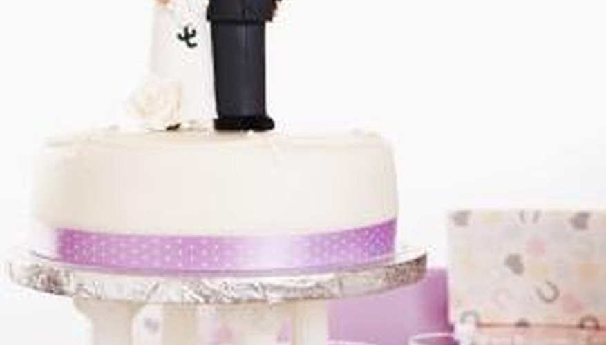 Gum paste decorations can add a creative flare to cakes.