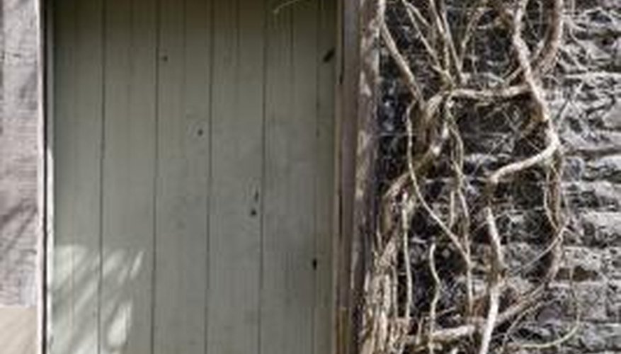 Sheds can be made from plastic or metal to save on maintenance.