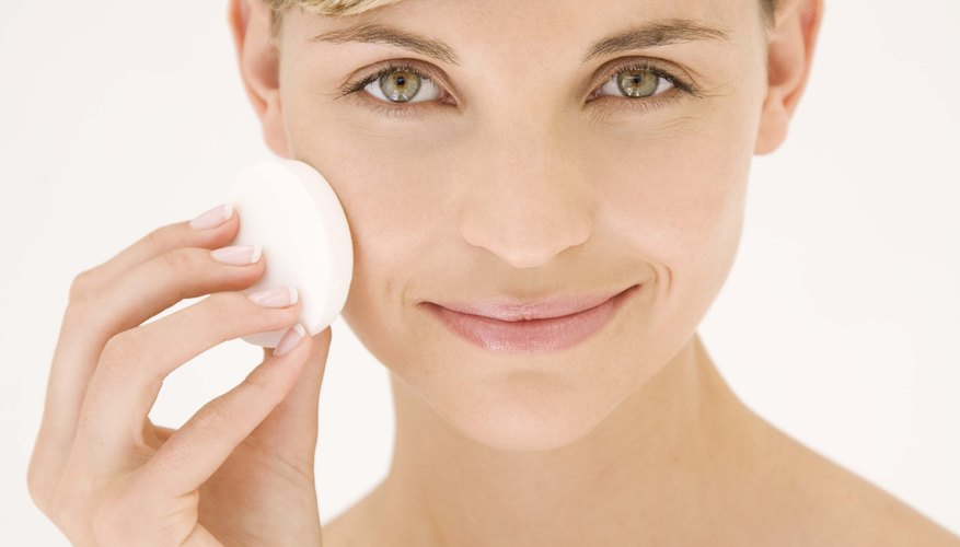 Use a makeup sponge for even, sheer coverage.
