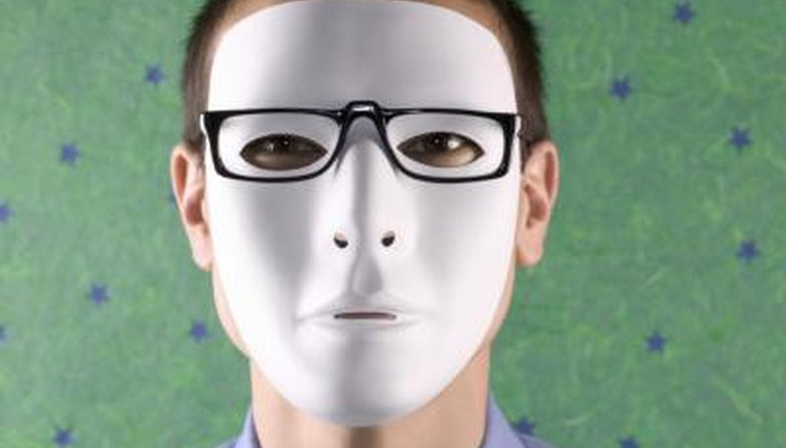 A blank, white ceramic mask like this is perfect for painting.